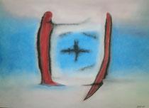 Standfest, 2013, Pastell auf Papier, BxH 48x36cm