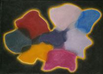 Farbtupfer, 2013, Pastell auf Papier, BxH 60x42cm
