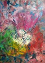 Blume abstrakt, 2016, Acryl auf Leinwand, BxH 30x40 cm