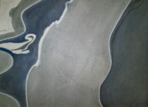 Salzseen und Salzablager. Carrizo Plain, 2013, Pastell auf Papier, BxH 48x36cm