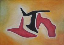 Balance, 2013, Pastell auf Leinwand, BxH 70x50cm