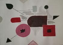 Ohne Titel 3, 2013, Acryl auf Papier, BxH 60x42cm