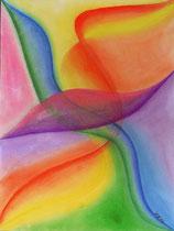 Schwungvoll, 2012, Pastell auf Papier, BxH 36x48 cm