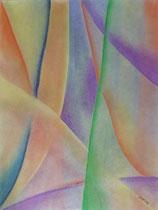 Kreuz und Quer, 2012, Pastell auf Papier, BxH 36x48 cm