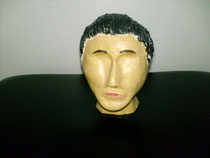 Kopf ungebrannt mit Acryl bemalt  2010;