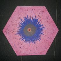 Blue Star  2010; Acryl auf Leinwand; BxH  50x43 cm