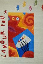 """""""l'amour fou"""" Hommage à André Breton, Albin Quartero - 120 x 190 cm - Fr. 850.-"""