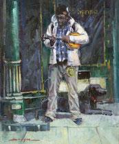 """Living The Blues"" 12x16 oil"