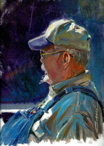 """""""Great Character"""" 9 x 12 oil *Accepted into Oil Painters of America Western Regional 2015"""