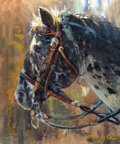 """""""Painted Horse"""" 12x16 oil"""