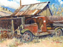 """Rust & Dust"" 11x14 oil"