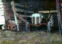 """Barn Find"" 9 x 12 oil"