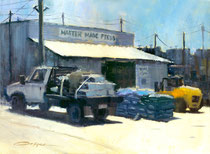 """Feed Store"" 9 x 12 plein air oil"