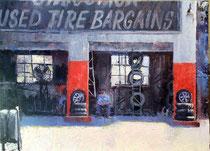 """""""Tire Bargains"""" 12 x 16"""