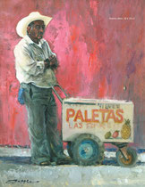 """Paletas Man"" 18x24 oil"