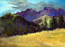 """Purple Mountains"" 9 x 12"