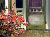 """""""Granny's Porch"""" 11x14 oil"""
