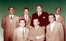 blue Team nel 1957 (dietro: Belladonna, Forquet, Perroux, Avarelli,  avanti: Siniscalco, Chiaradia, D'Alelio)