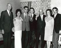Waldemar von Zedtwitz,Louise Durham, Leon Yallouze, Benito Garozzo, Charles & Peggy Solomon and Omar Sharif ca. 1970