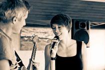 Tiny Ballroom Orchestra auf einer Vernissage in Breisach