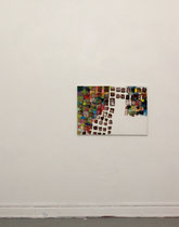 Atelieransicht: o.T., 2014, Öl auf Leinwand, 70x100cm