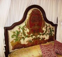 Detalle de cama Jimena baldaquino