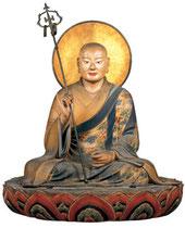 快慶作 袈裟がめっちゃ色がキレイでおしゃれ。僧形八幡神坐像 (鎌倉時代)