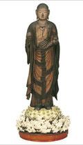 快慶作 地蔵菩薩立像 流れるような衣の質感と模様。ネックレスも美しすぎる!!(鎌倉時代)
