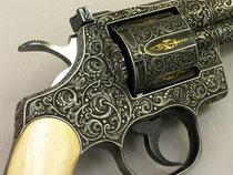 Colt Python carved