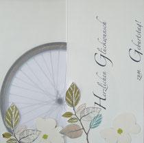 Geburtstagskarte für eine radfahrende Gartenliebhaberin