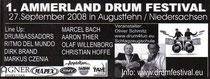 2008_09_Drums und Percussion Ammerland Drumfestival Werbung
