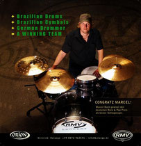 2009_02_Drumheads RMV + Orion Werbung