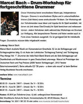 Workshop News Jazzdrummerworld