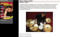 2008_11_Drums und Percussion online News