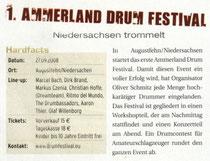 2008_03_Drumheads Ammerland Festival Ankündigung