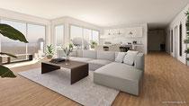 3D Rendering Wohnzimmer