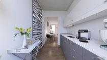 Rendering Küche fotorealistische Ansicht 3D Visualisierung