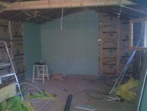 isolation des murs et plafond et pose de placo-plâtre