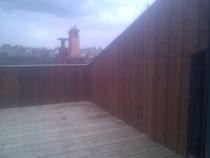 création d'une terrasse dans un toit