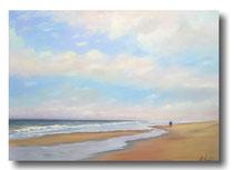 Strandspaziergang auf Ney, 70 x 50 cm