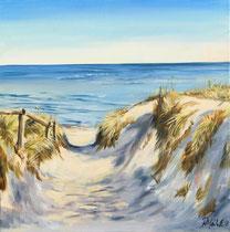Weg zum Strand 30 x 30 cm °