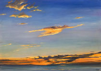 Abend am Meer 100 x 70 cm - 500 €