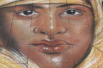 Tuareg auf 3D-Malerei Strassenmaler Lyda Hitzfeld