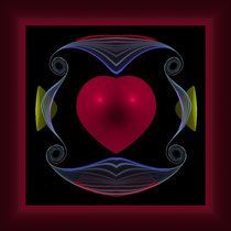framed red heart 1