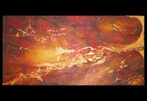 """""""Erta Ale"""" Acryl auf Leinwand, 100 x 50cm (490.-)"""