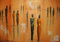 """""""Spaziergang"""" Acryl auf Leinwand, 70 x 50cm (verkauft)"""