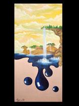 """""""Surrealistische Leinwand"""" Acryl auf Leinwand, 40 x 80cm (verkauft)"""