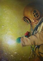 """Noch ohne Titel"", Öl auf Leinwand, 50 x 70cm (€ 899.-)  2016"