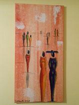 """Freundschaft"" Acryl auf Leinwand, 40 x 80cm (220.-)"