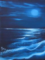 """""""Mondnacht"""", Öl auf Leinwand, 20 x 30cm (verkauft)"""